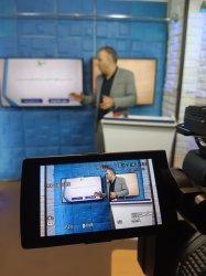 ضبط فیلم در استودیو رفیع برای گروه آموزش سبز