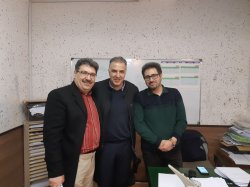 با استاد قدیانی و استاد پژوهان در دبیرستان ملت