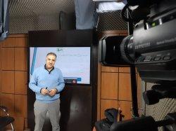 ضبط فیلم گروه آموزش سبز در استودیو استاد عسکری